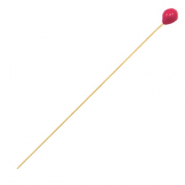DQ European metal findings headpin 52mm Gold-Cherry Red (nickel free)