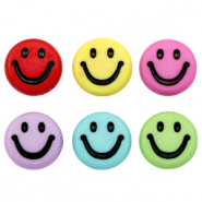 Acrylic letter beads smiley Multicolour-Black