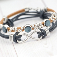 Inspirational Sets DQ leather bracelets