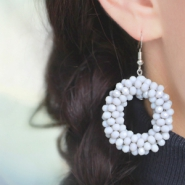 NEW Take a look at our new fancy beads facet earrings