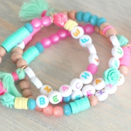 Inspirational Sets Coloured letter beads