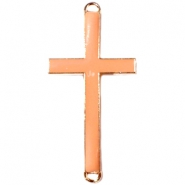 Medium golden charm 2 loops cross Zacht orange