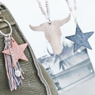 NEW New: DQ leather charms in heart, star and buffalo head shape!