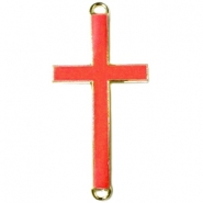 Golden charm 2 loops cross Spicy orange