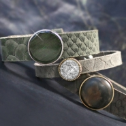 NEW New: Cuoio bracelets with reptile print
