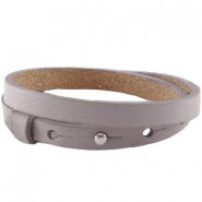 8mm double leather Cuoio bracelets for 12mm cabochon Taupe