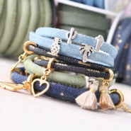 NEW New: Trendy flat and trendy stitched denim cord!