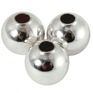 6mm DQ bead with 2,5mm threadhole DQ Silver plated