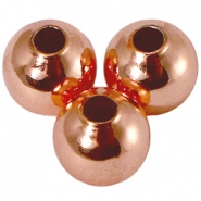 8mm DQ bead with 2,5 mm threadhole DQ Rose Gold plated