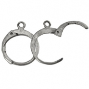 DQ earrings 15mm Antique silver plated