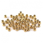 DQ crimp beads 3mm Gold plated