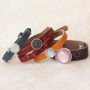 Genuine DQ European leather & suede items Check out our complete collection Cuoio bracelets