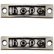 Antique silver charm 2 eyes hope Antique silver