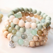 NEW New soft coloured natural stone beads