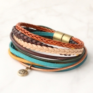 Inspirational Sets Leather bracelets with Eastern influences