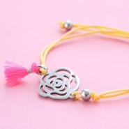 Inspirational Sets Coloured summer bracelets with stainless steel charms