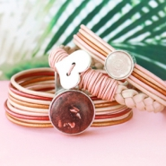 Inspirational Sets Leather bracelets with soft colours