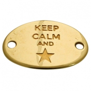 "Starshaped charm 2 loops ""KEEP CALM""  Gold (nickel free)"