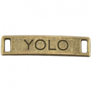 "Charm 2 eyes ""YOLO"" Bronze"
