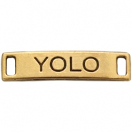 "Charm 2 eyes ""YOLO"" Antique gold"