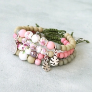 Inspirational Sets Cheerful ceramic bead bracelets