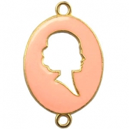 Cameo charm 2 loops Gold-light rose