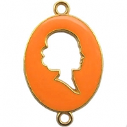 Cameo charm 2 loops Gold-autumn sunset orange
