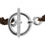 DQ metal toggle clasp Antique silver (nickel free)