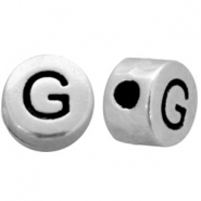 DQ metal letterbead G Antique silver (nickel free)