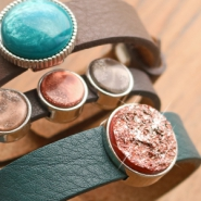 Inspirational Sets Stylish Cuoio bracelets with Polaris Elements cabochons