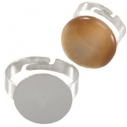 Metal rings for 15mm and 20mm cabochon Antique silver