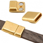 DQ metal magnetic clasp (for 10mm flat DQ leather) Gold (nickel free)