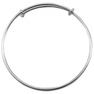 DQ metal Bangle bracelet for charms Antique silver (nickel free)