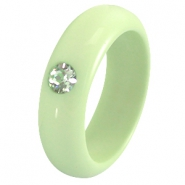 7mm Galastil Polaris rings Crysolite green