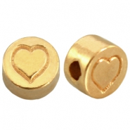 DQ metal letterbead heart Gold (nickel free)