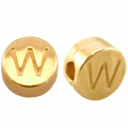DQ metal letterbead W Gold (nickel free)