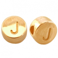 DQ metal letterbead J Gold (nickel free)