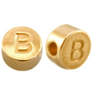 DQ metal letterbead B Gold (nickel free)