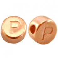 DQ metal letterbead P Rose gold (nickel free)