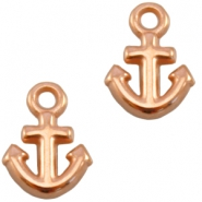 DQ metal charm anchor Rose gold (nickel free)