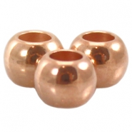 DQ metal ball 4x5mm Rose gold (nickel free)