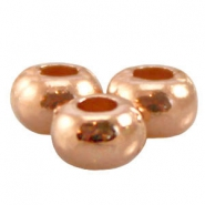 DQ metal ring/flat bead 5x3.3mm Rose gold (nickel free)