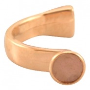 DQ metal bracelet for 12mm cabochon Rose gold (nickel free)