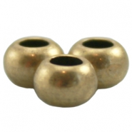 DQ metal ball 6x4mm Antique Bronze (nickel free)