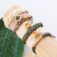 Inspirational Sets Trendy bracelets in elastic Ibiza ribbon