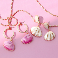 NEW Shell pendants in new summer colours!