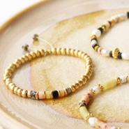 NEW New! Natural stone beads discs in beautiful colours