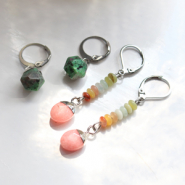 NEW New natural stone charms in beautiful colours!