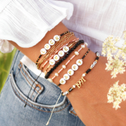 NEW Trendy bracelets with Miyuki and letter beads