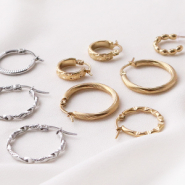 NEW New! Stainless steel earrings and bracelets